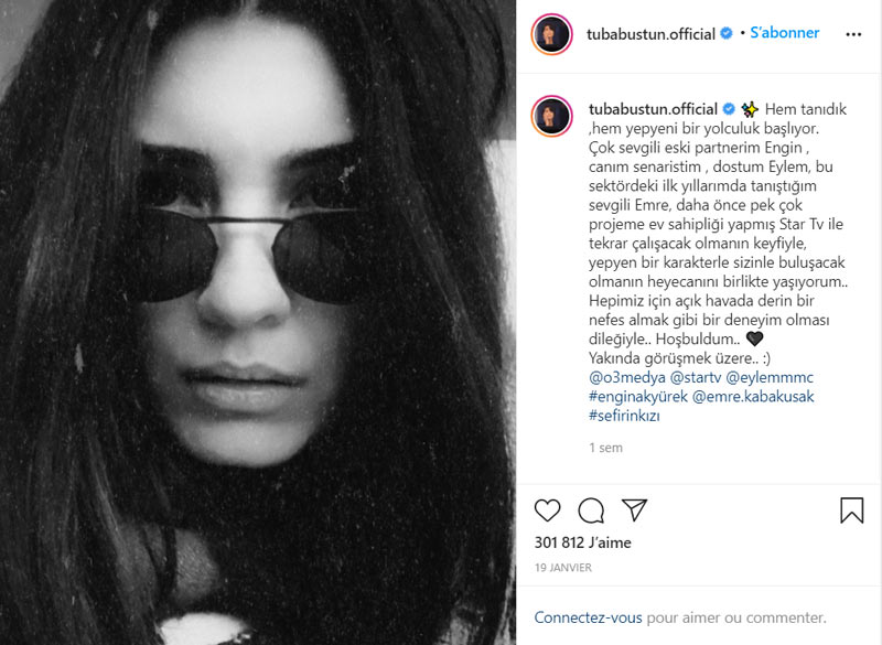 tuba buyukustun on instagram about sefirin kizi