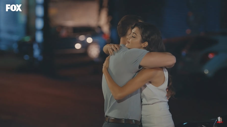 eda and serkan embrace each other ep 6